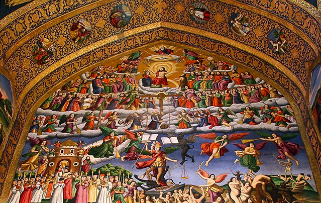 Heaven and Hell Fresco from Vank Cathedral. Photo by ZhuPix (Own work) [CC BY-SA 3.0 (http://creativecommons.org/licenses/by-sa/3.0)], via Wikimedia Commons
